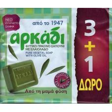 Αρκάδι φυσικό πράσινο σαπούνι με ελαιόλαδο 4 Χ 150GR