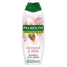 Palmolive Natural Almond & Milk Shower & Bath Cream - Αφρόλουτρο  με αμύγδαλο & γάλα 650 ml