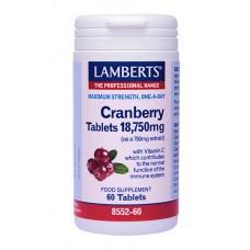 LAMBERTS CRANBERRY 18.750MG 60TABL