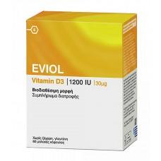 EVIOL Vitamin D3 1200IU 60CAPS x 30μg