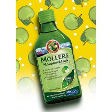 Mollers Cod Liver Oil 250 ml (Μουρουνέλαιο με γεύση μήλο)