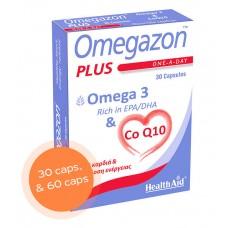 HEALTH AID OMEGAZON PLUS OMEGA-3 + CoQ10 CAPS BT. 60
