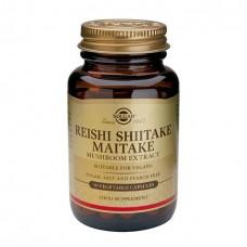 SOLGAR REISHI SHIITAKE MAITAKE 50 CAPS (ΓΑΝΟΔΕΡΜΑ)