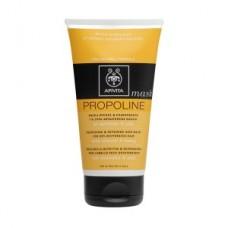 APIVITA Propoline μάσκα θρέψης και επανόρθωσης για ξηρά - αφυδατωμένα Μαλλιά με αμύγδαλο & μέλι 150ml