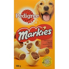 Pedigree μπισκότα σκύλου markies 500 gr + δώρο dentastix